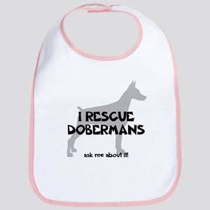 I RESCUE Dobermans Bib